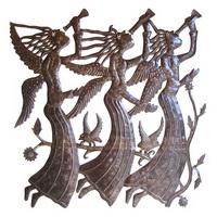 Haitian oil drum carving